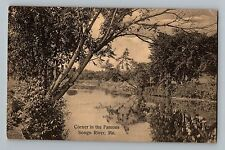 Songo River Maine ME Corner In The Famous Antique Postcard 1913