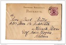 Germany 1887 Prepaid Postal Stationery Card PostKarte Berlin X2344