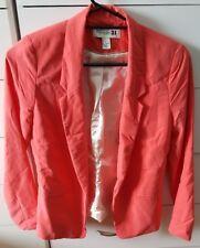 FOREVER 21 Jacket Coral Pink Blazer Work Size S