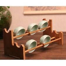 Bamboo Wooden Tree Mug Rack Coffee Cup Holder Display Stand Organizer Kitchen