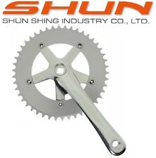 SHUN SILVER 170mm 130bcd 46T Track Fixed Gear Single Speed Bike Crank Set Cranks