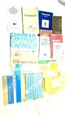 Lot Of Vintage Car Dealer Brochures & Manuals 70s 80's Chevy,Oldsmobile,Subaru,