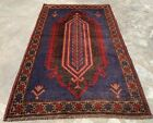 Authentic Hand Knotted Afghan Taimani Balouch Wool Area Rug 5 x 3 Ft (519 HMN)