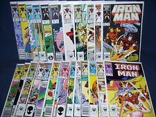 The Invincible Iron Man #201 - #225 with Bag and Board