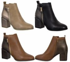 Calzado de mujer botines sin marca de piel sintética