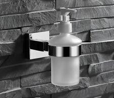 Wall Mount Bathroom Stainless steel Holder Glass Shampoo Liquid Soap Dispenser