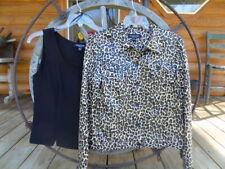 Womens 10 Perceptions New York Jacket Top Set - Leopard Print - Sequins
