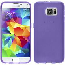 Silicone Case for Samsung Galaxy S6 transparent purple + protective foils
