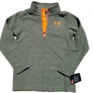 UNDER ARMOUR Solid Logo Boys 1/4 Zip Soft Fleece Sweatshirt SELECT SIZE & COLOR