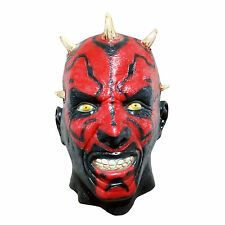 Star Wars Cosplay Darth Maul Latex Mask costume Halloween Party *One-Size*