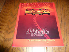 1987 Oldsmobile Cutlass Ciera Cutlass Supreme Cutlass Cruiser Sales Brochure