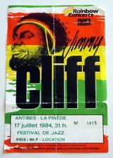 JIMMY CLIFF billet ticket concert FRANCE Antibes 17/07/1987 Reggae Jazz festival