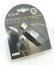 Zeikos Hi-Speed SD USB 2.0 Card Readers Writer For SDMC MMC