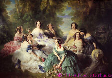 """Art Repro painting:""""Empress Eugenie Surrounded by her Ladies in Waiting"""" 48x72"""