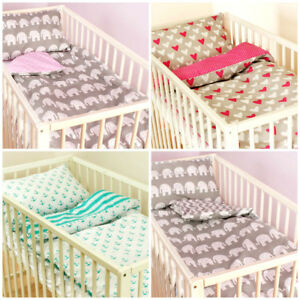 Two-sided Baby bedding set 2 piecel/cot bed crib quilt/duvet pillow case Duvet