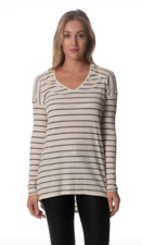 Sportsgirl Ladies Hi-Lo-Striped Long SleeveTops X 2 size Small (a1)