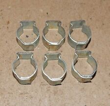 "7/16"" Hose Pinch Clamps Single Ear 6ea Tubing Dixon Keystone Zinc Steel USA 160X"