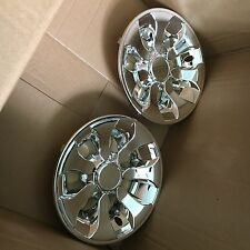 "8"" Universal Golf Cart Wheel Covers Hubcaps Hub caps  (Set of 2) Chrome plated"