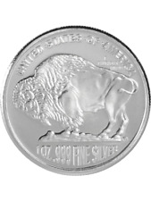 American Buffalo Round One Ounce Silver Coloured Coin In Capsule