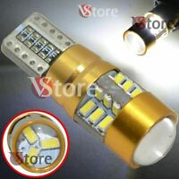 2 Lampade Led T10 Canbus HID 27 SMD 3014 Luci BIANCO Posizione Targa Luminosi VS
