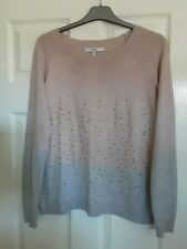 Next Jumper Size 12 Pink/Grey with Sparkle Studs