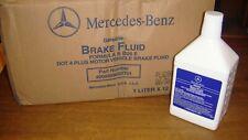 2 Genuine Mercedes Benz Brake Fluid 1 Liter Bottles OEM 000989080701