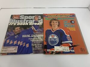 SPORTS ILLUSTRATED WAYNE GRETZKY  LOT OF 2 1981 1999 WE SHIP FAST