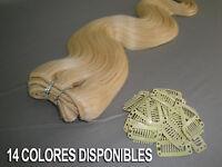 EXTENSIONES COSIDAS CABELLO NATURAL ONDULADO 25GR Y 55CM +5 CLIPS