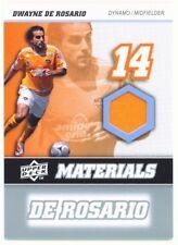 "DWAYNE DE ROSARIO ""GAME USED JERSEY"" UD MLS SOCCER 2008"
