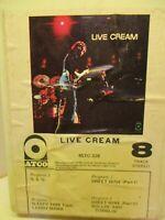 8 Track Tape Atco BSTC-328 Live CREAM 701A