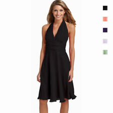Chiffon Halter Sleeve Dry-clean Only Dresses for Women