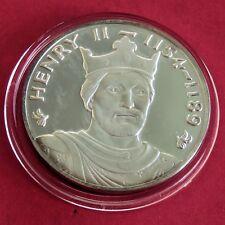 Henry II 44 mm caracteriza Plata Prueba De Medalla Reyes & Reinas de Inglaterra