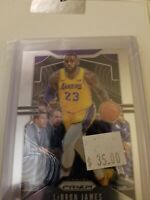 Lebron James 2019 Panini Prizm 1st lakers card -- Lakers