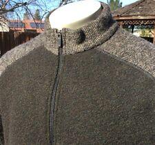 Men's Kuhl Alfpaca Fleece Jacket Full Zip Sz Large L Bronze Brown Canada
