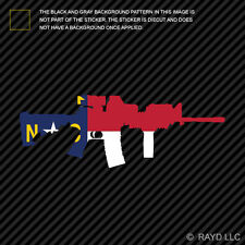 North Carolina State Shape AR15 Sticker Decal AR-15 M16 M-16 NC
