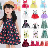 Baby Kids Girls Flower Summer Princess Dress Party Wedding Tulle Tutu Dress Lot