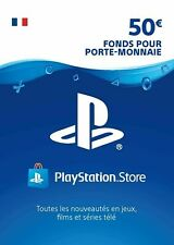 €50 EURO Carte PSN France - 50 EURO PlayStation Network Code Jeu Compte Français