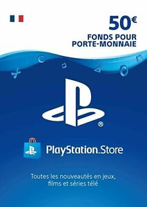 €50 EURO Carte PSN France - 50 EURO PlayStation Network Code Jeu Compte Français