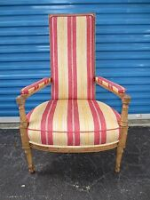 Tall French Chair Narrow Hollywood Regency Country Library Parlor Victorian STY