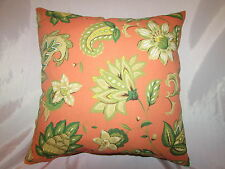 "2 DECORATIVE THROW PILLOW COVERS 17X17"" INDOOR OUTDOOR ORANGE"