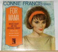 CONNIE FRANCIS - Sings For Mama - Original 1965 MGM Mono LP Record Album