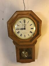 """Clock 23""""H x 14"""" W.Solid Wood Case Runs&Chimes(electronic) C9pix4Size.MAKE OFFER"""