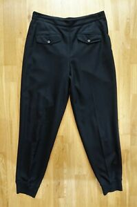 MARGARET HOWELL Black Wool smart tapered trousers size 12