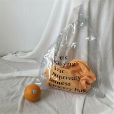 Large Clear Transparent Vinyl Plastic Shoulder Bag PVC Shopper Letter Handbag
