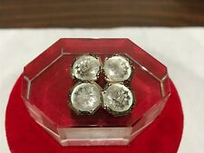 Antique 14k Rose Gold Platinum and Diamond Cufflinks