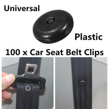 100x Black Plastic Car Clip Seat Belt Stopper Buckle Button Fastener Safety Part