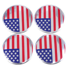 "2.2"" Auto Car Wheel Center Hub Cap Emblem Badge Decal Sticker USA American Flag"