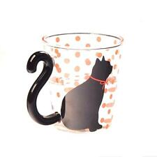 Creativa del gato de cristal taza del té taza de la leche del café de