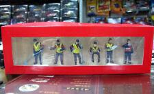 1/50 Doll Figures Fingurine Set Blue Workers F CAT Vehicle Car Scene Accessory