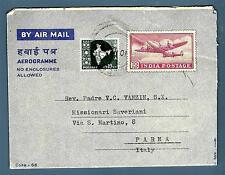 INDIA INDIPENDENTE  - 1966 - AEROGRAMMA - Dall'India a Parma/Italia